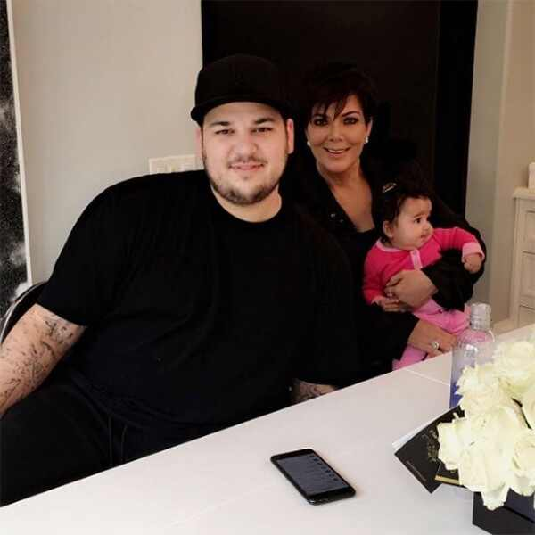 Rob Kardashian, Kris Jenner, Dream Kardashian, Throwback, Instagram