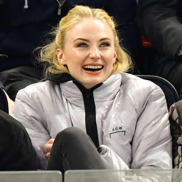 Sophie Turner, Laughing, Hockey Game