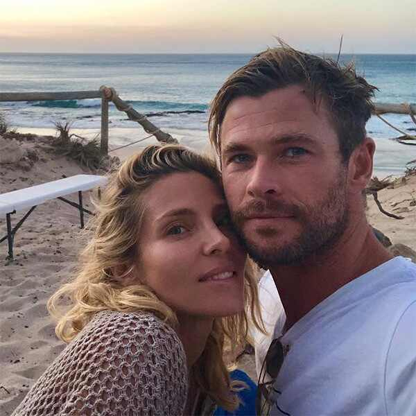 Chris Hemsworth, Elsa Pataky, Camping