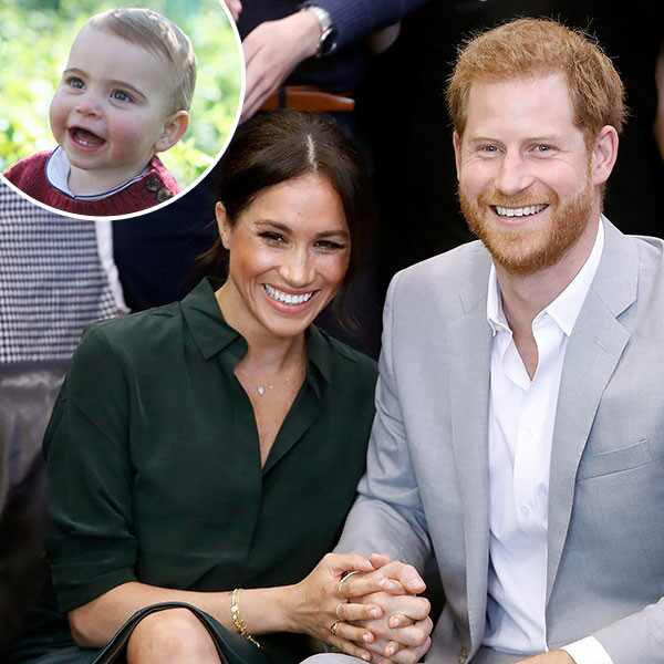 Prince Louis, Prince Harry, Meghan Markle, Inset