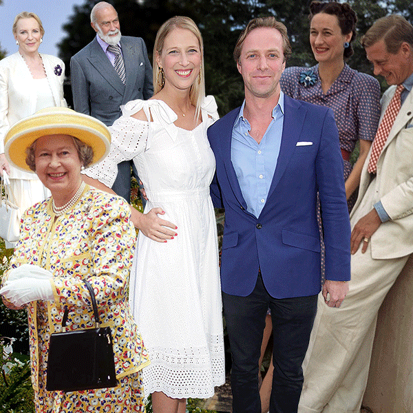 Lady Gabriella Windsor, Thomas Kingston, Queen Elizabeth II, Prince & Princess Michael of Kent, Edward VIII & Wallis
