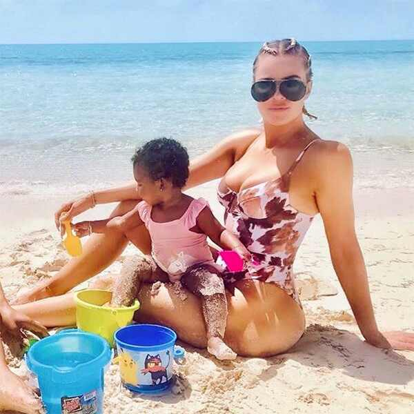 Khloe Kardashian, True Thompson, Malika Haqq, Turks and Caicos, Instagram