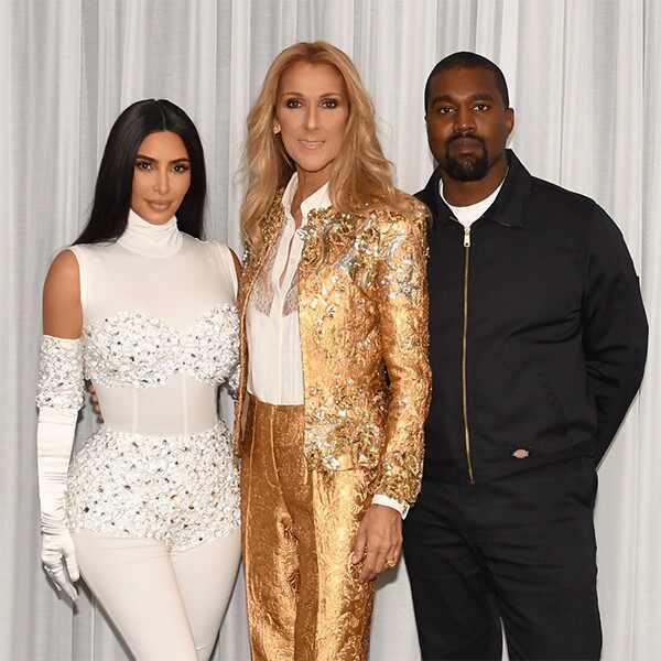 Kim Kardashian, Kanye West, Celine Dion