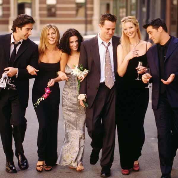 Friends, David Schwimmer, Jennifer Aniston, Courteney Cox, Matthew Perry, Lisa Kudrow, Matt LeBlanc