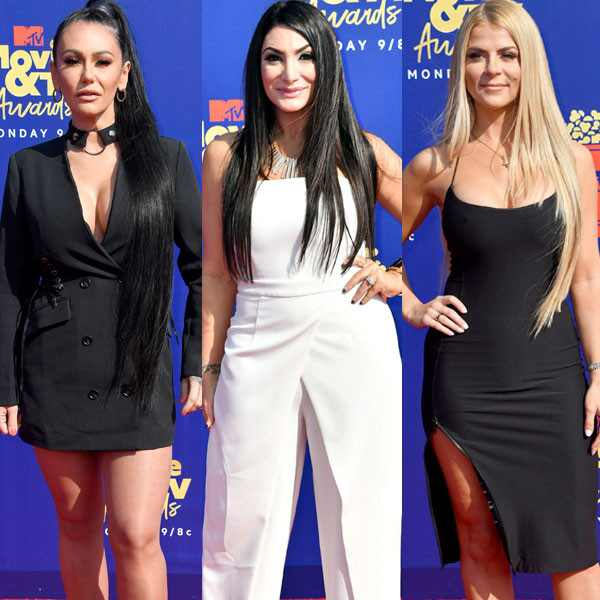 Jenni Farley, Deena Cortese, Lauren Sorrentino, 2019 MTV Movie & TV Awards