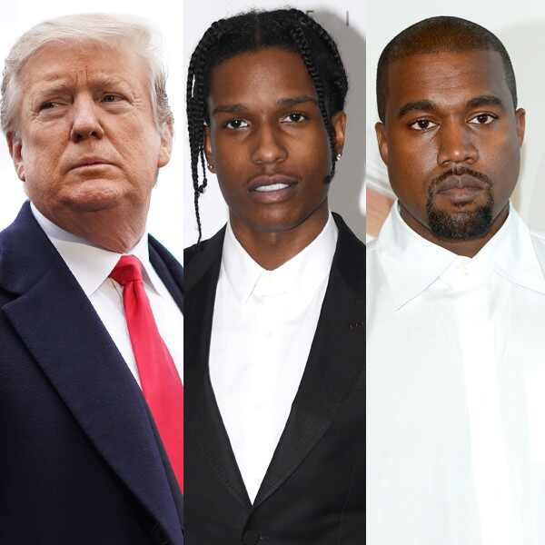 Donald Trump, ASAP Rocky, A$AP Rocky, Kanye West