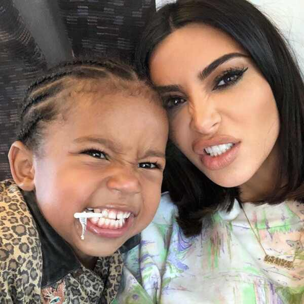Saint West, Kim Kardashian