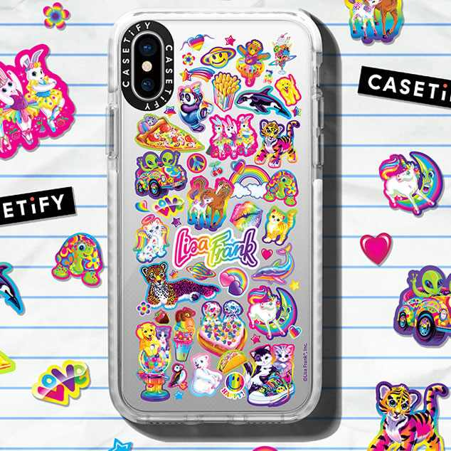 Ecomm: Lisa Frank x Casetify Collab