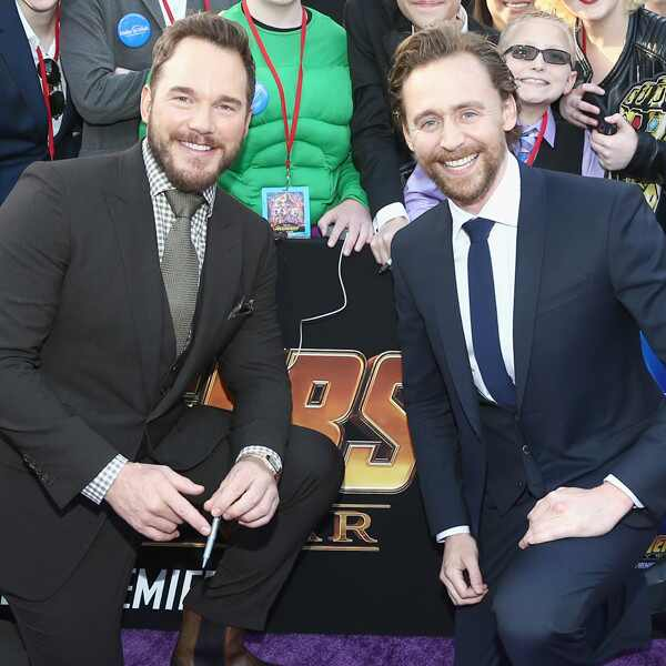 Chris Pratt, Tom Hiddleston