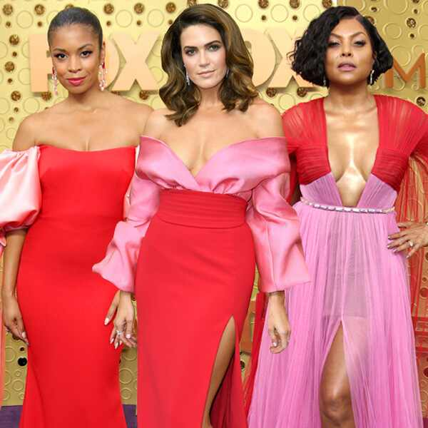 EComm: Susan Kelechi Watson, Mandy Moore, Taraji P. Henson, Marisa Tomei, 2019 Emmy Awards, Red Pink Trend
