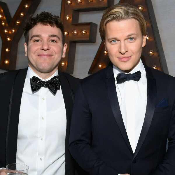 Jon Lovett (L) and Ronan Farrow