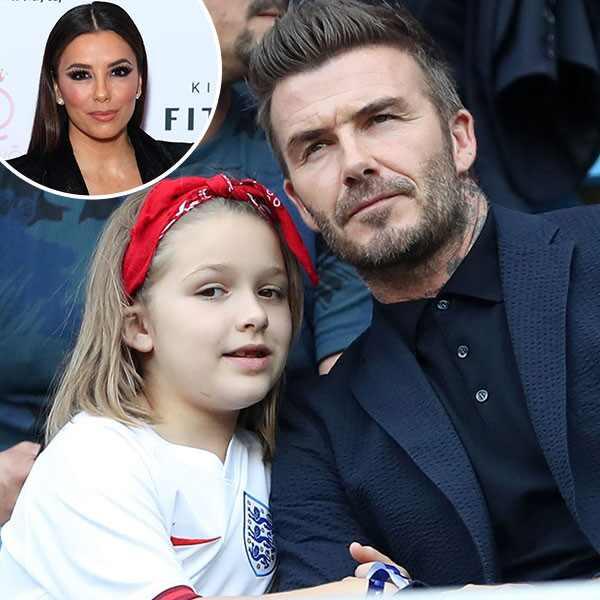 David Beckham, Harper Beckham, Eva Longoria