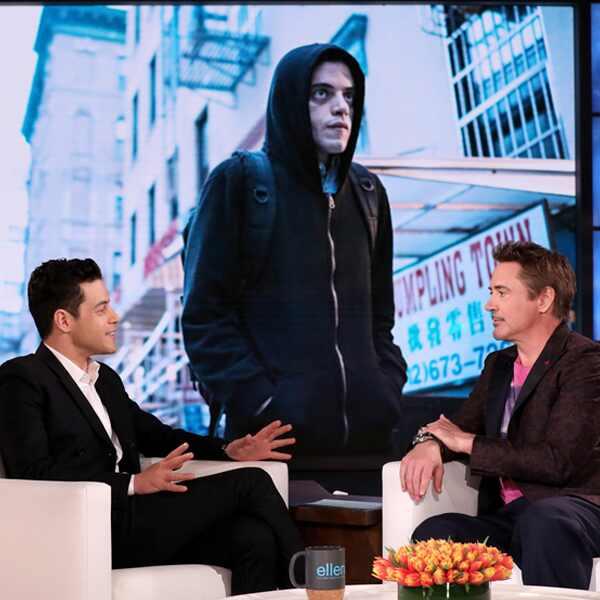 Rami Malek, Robert Downey Jr., Ellen Show