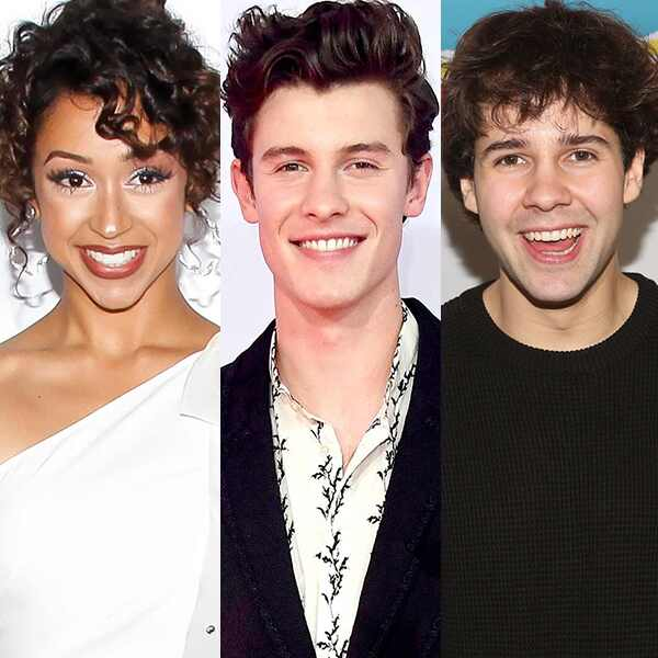 Liza Koshy, Shawn Mendes, David Dobrik