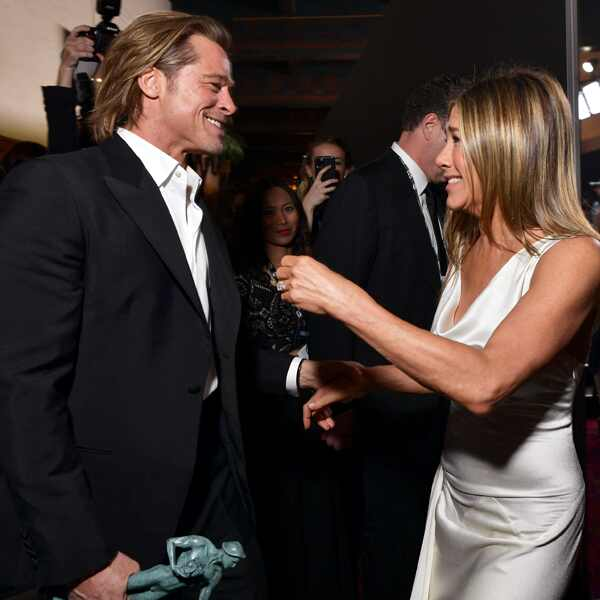 Jennifer Aniston, Brad Pitt, 2020 Screen Actors Guild Awards, SAG Awards, Red Carpet Fashions