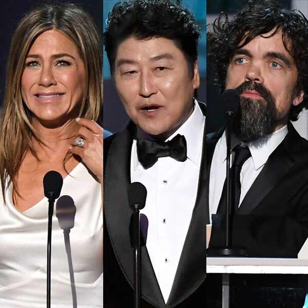 Jennifer Aniston, Kang-ho Song, Peter Dinklage, 2020 Screen Actors Guild Awards, SAG Awards