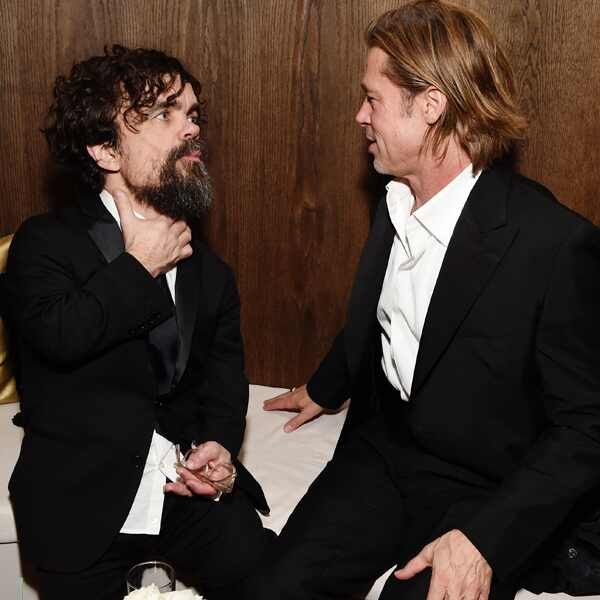 Peter Dinklage, Brad Pitt, 2020 Netflix SAG After Party