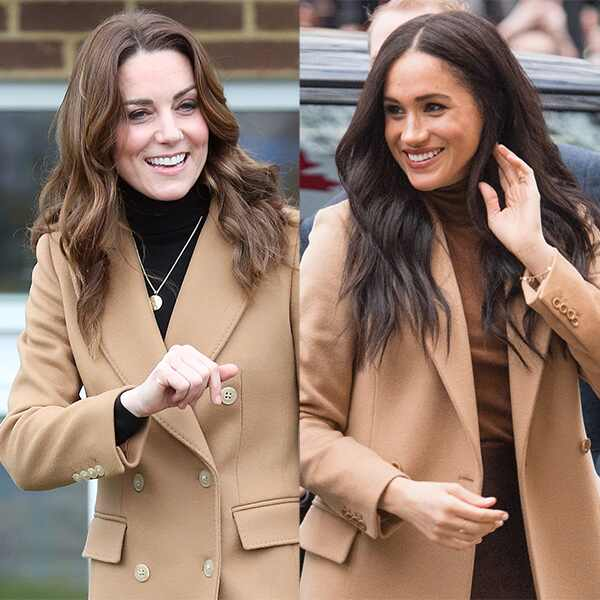 Kate Middleton, Meghan Markle, Camel Coat