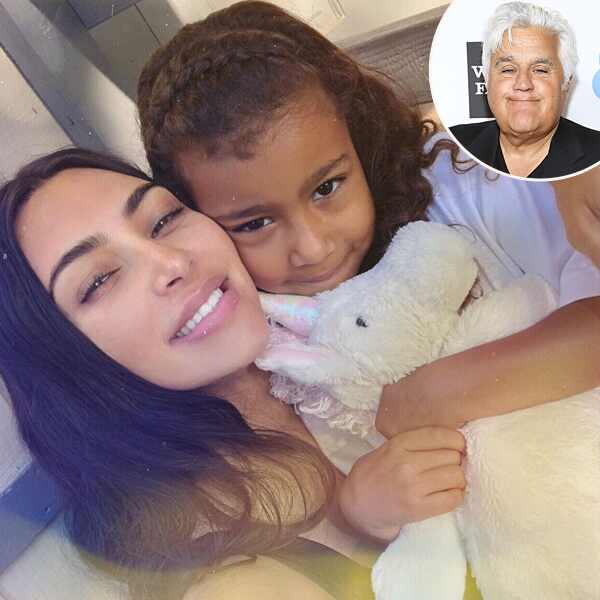 Kim Kardashian, North West, Jay Leno