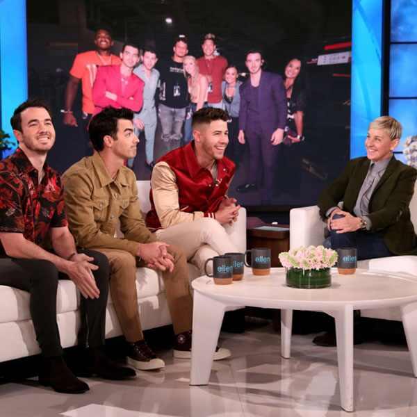 Ellen DeGeneres, Nick Jonas, Kevin Jonas, Joe Jonas