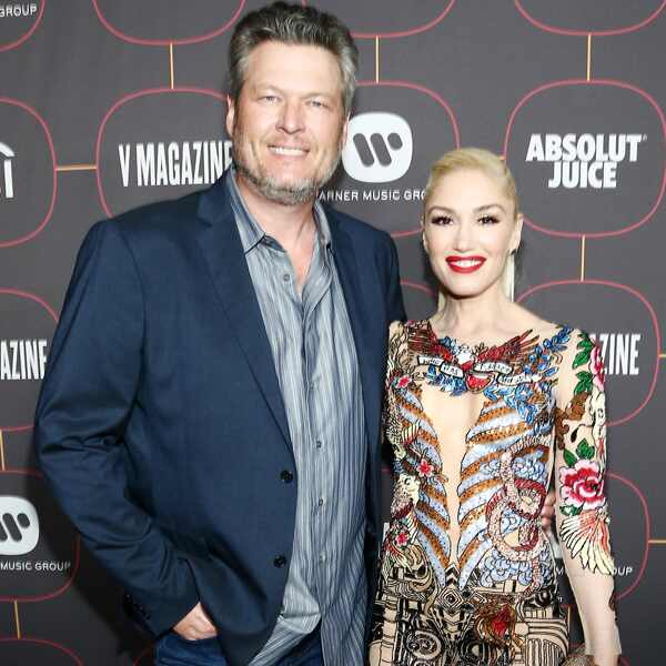 Blake Shelton, Gwen Stefani, 2020 Warner Music Group Pre-Grammy Party
