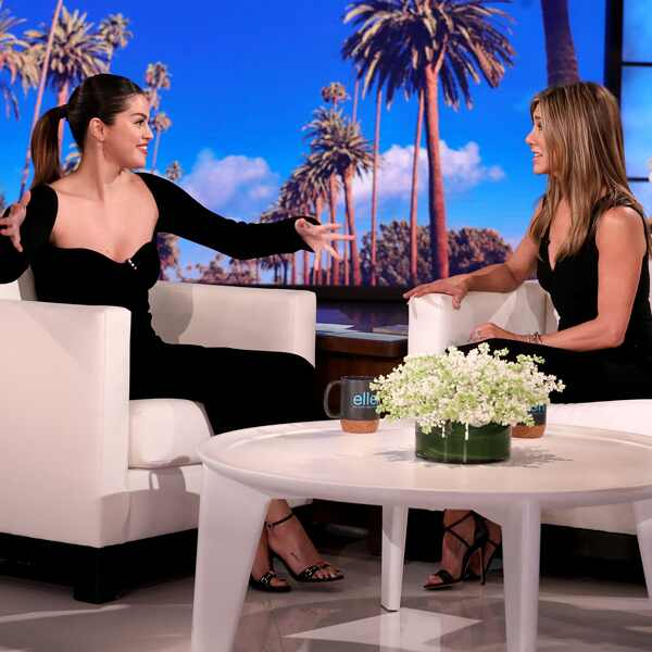Selena Gomez, Jennifer Aniston, The Ellen DeGeneres Show 2020