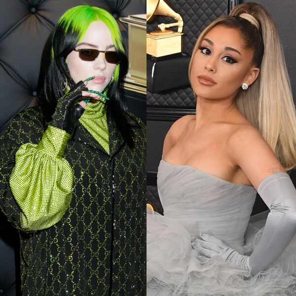 Billie Eilish, Ariana Grande, 2020 Grammy Awards