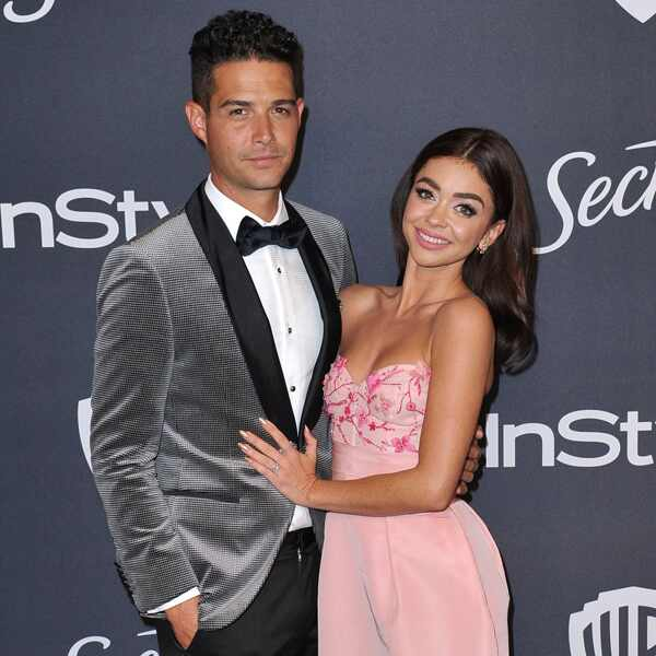 Wells Adams, Sarah Hyland, 2020 Golden Globe Awards, Party Pics