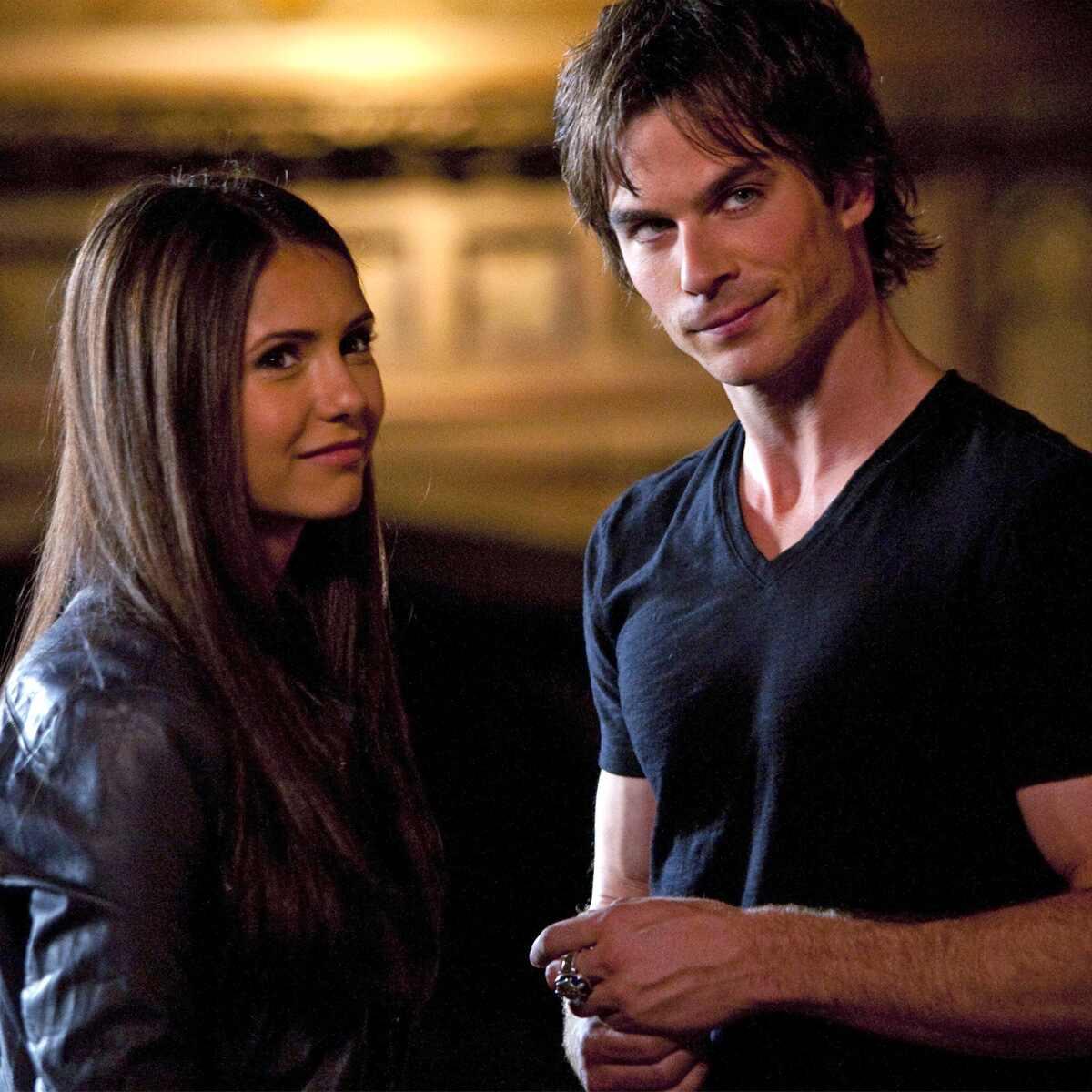 Nina Dobrev, Ian Somerhalder, The Vampire Diaries