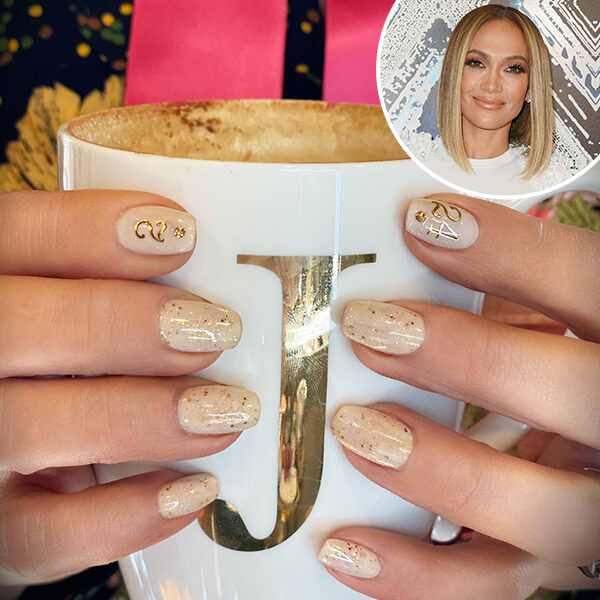 Jennifer Lopez, Nails, Kobe Bryant Tribute, Gianna Bryant Tribute