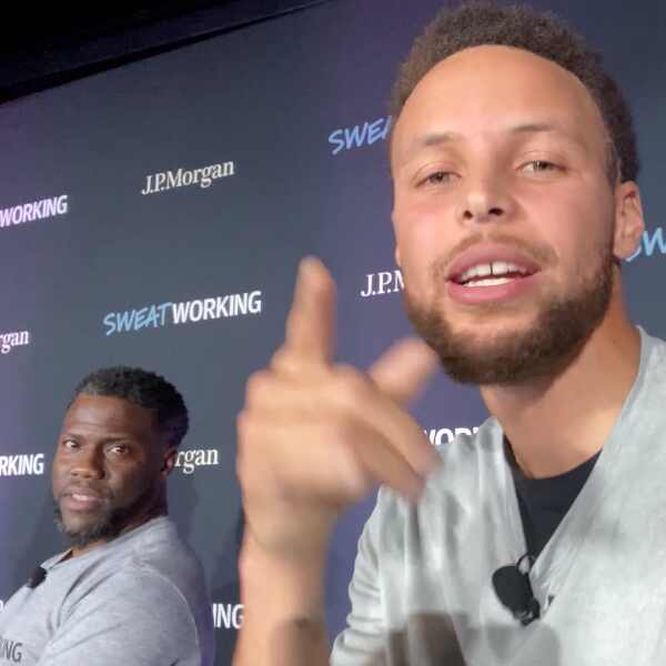 Stephen Curry and Kevin Hart