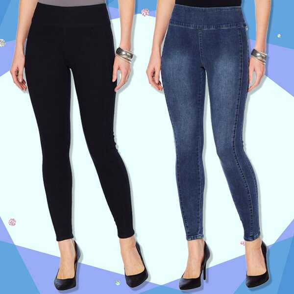 E-COMM: G by Giuliana Denim Leggings Collage