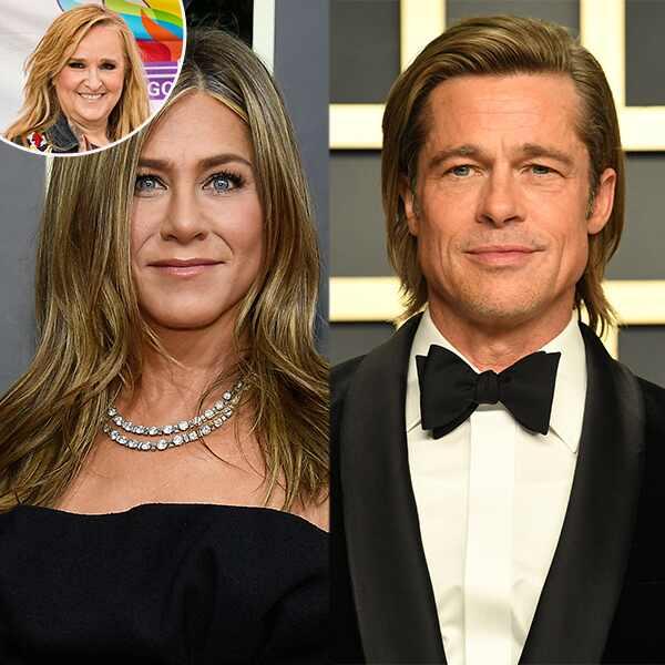 Melissa Etheridge, Jennifer Aniston, Brad Pitt
