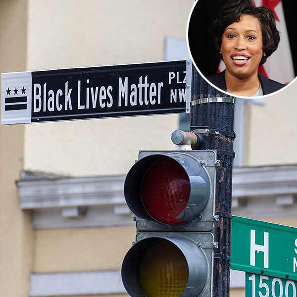 Black Lives Matter Street Sign, Mayor Muriel Bowser, Black Lives Matter