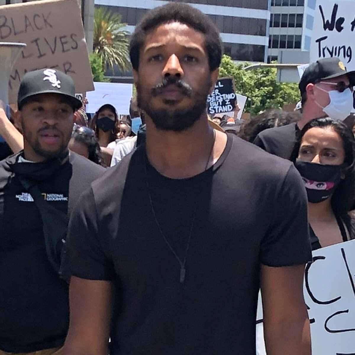 Michael B. Jordan, protest