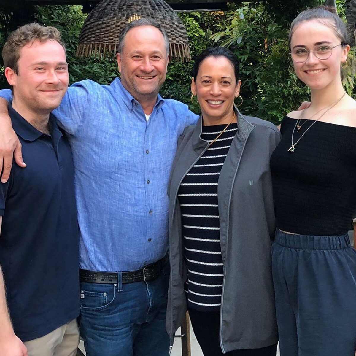 Kamala Harris, Douglas Emhoff, family, Cole Harris, Ella Harris