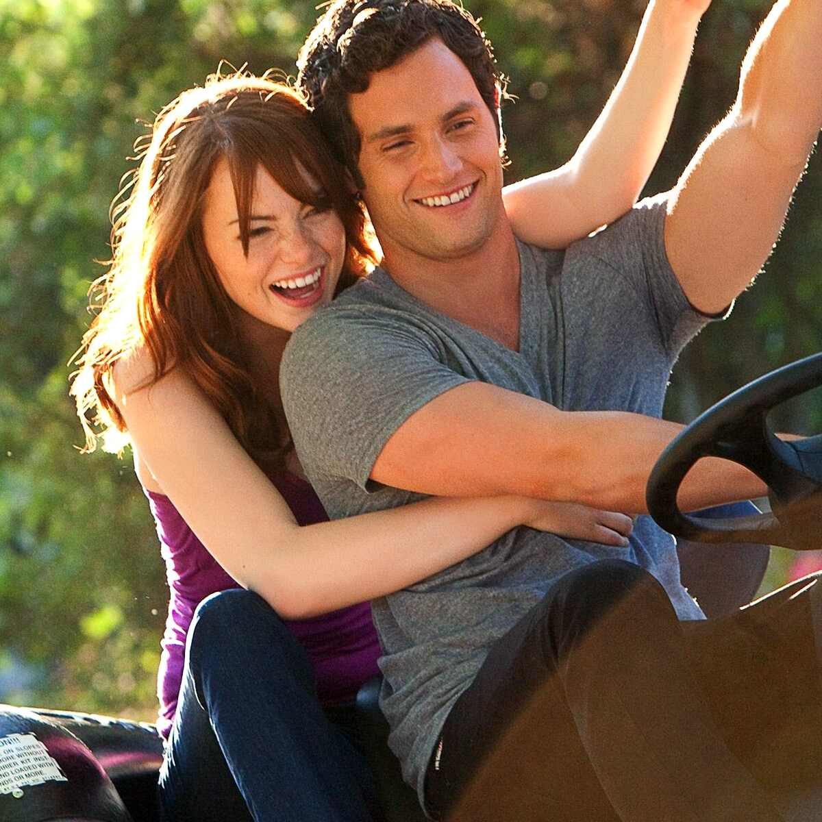 Emma Stone, Penn Badgley, Easy A