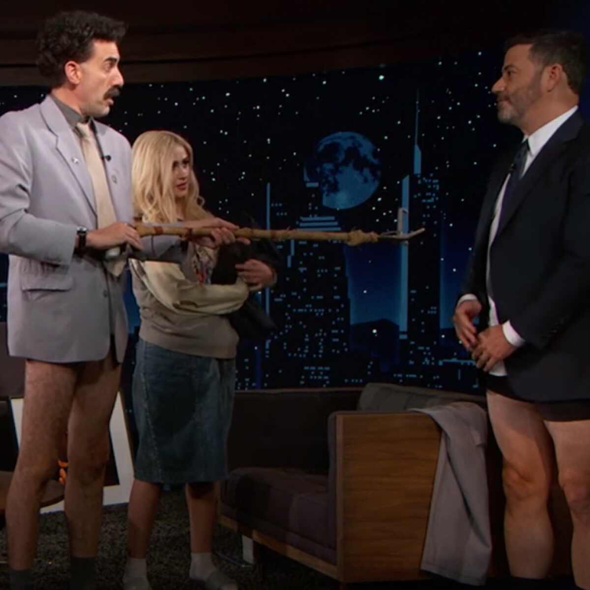 Jimmy Kimmel, Borat, Sacha Baron Cohen