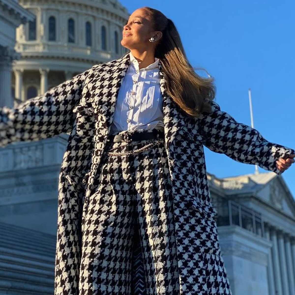 Jennifer Lopez, 2021 Presidential Inauguration, social pics