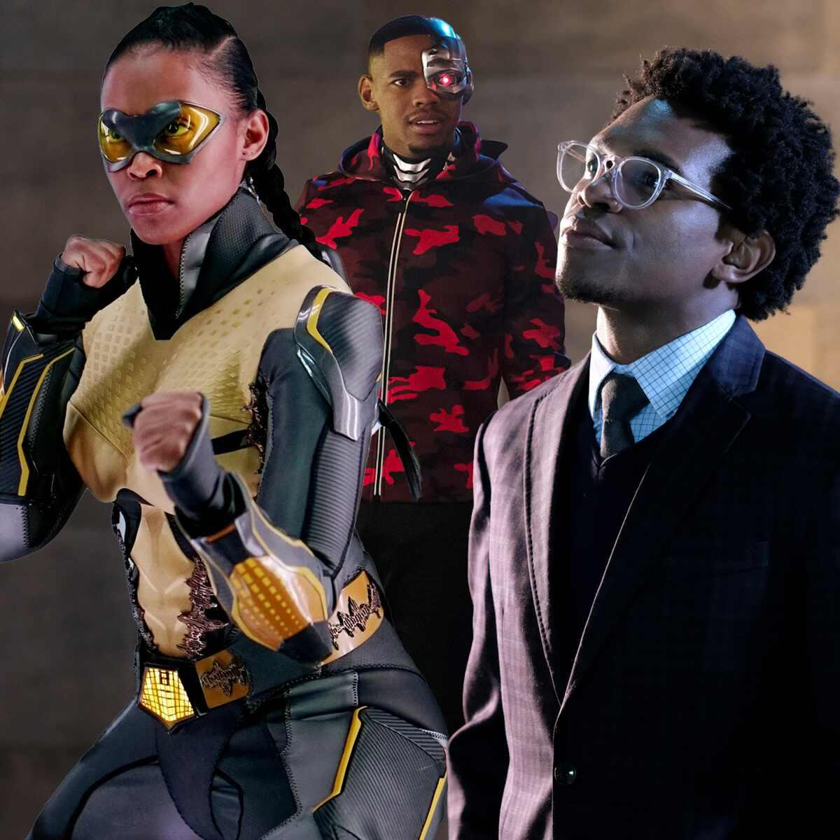 Nafessa Williams, Black Lightning, Joivan Wade, Doom Patrol, Camrus Johnson, Batwoman, Superheroes, Black History Month