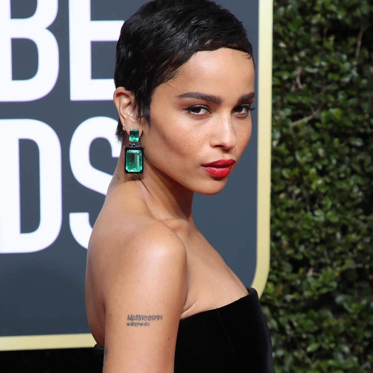 Zoe Kravitz, 2018 Golden Globe Awards, Emeralds