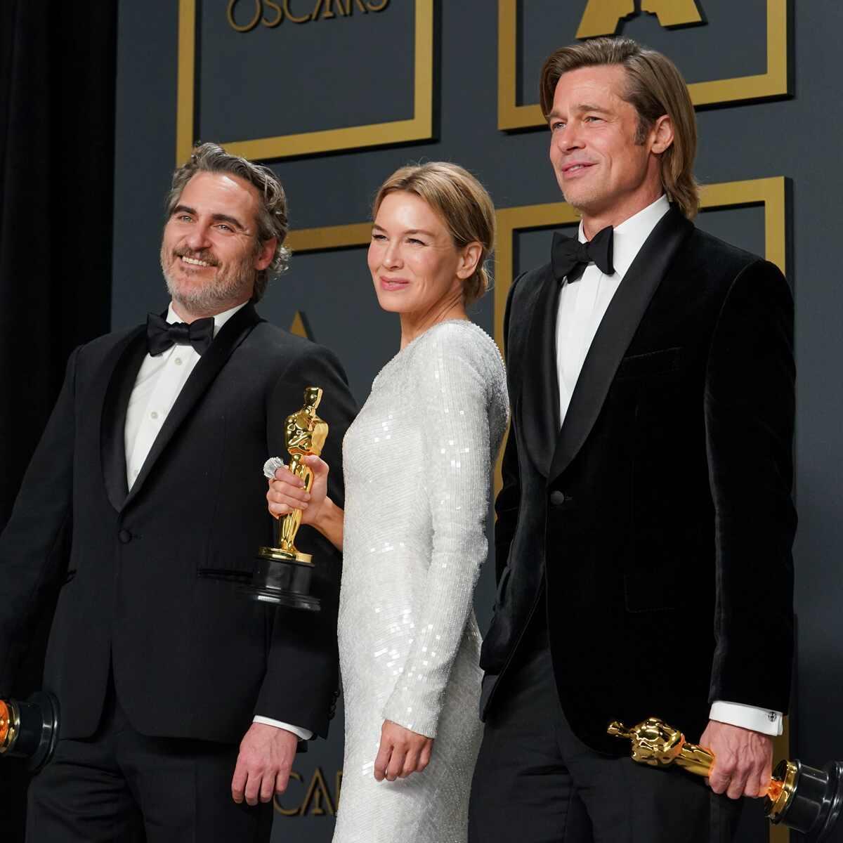 Joaquin Phoenix, Renée Zellweger, Brad Pitt, 92nd Academy Awards