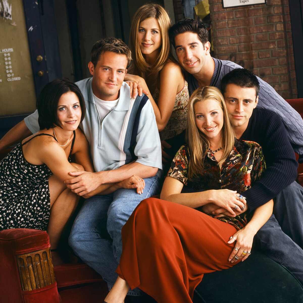 Friends, Cast, Jennifer Aniston, David Schwimmer, Courteney Cox, Lisa Kudrow, Matt LeBlanc, Matthew Perry