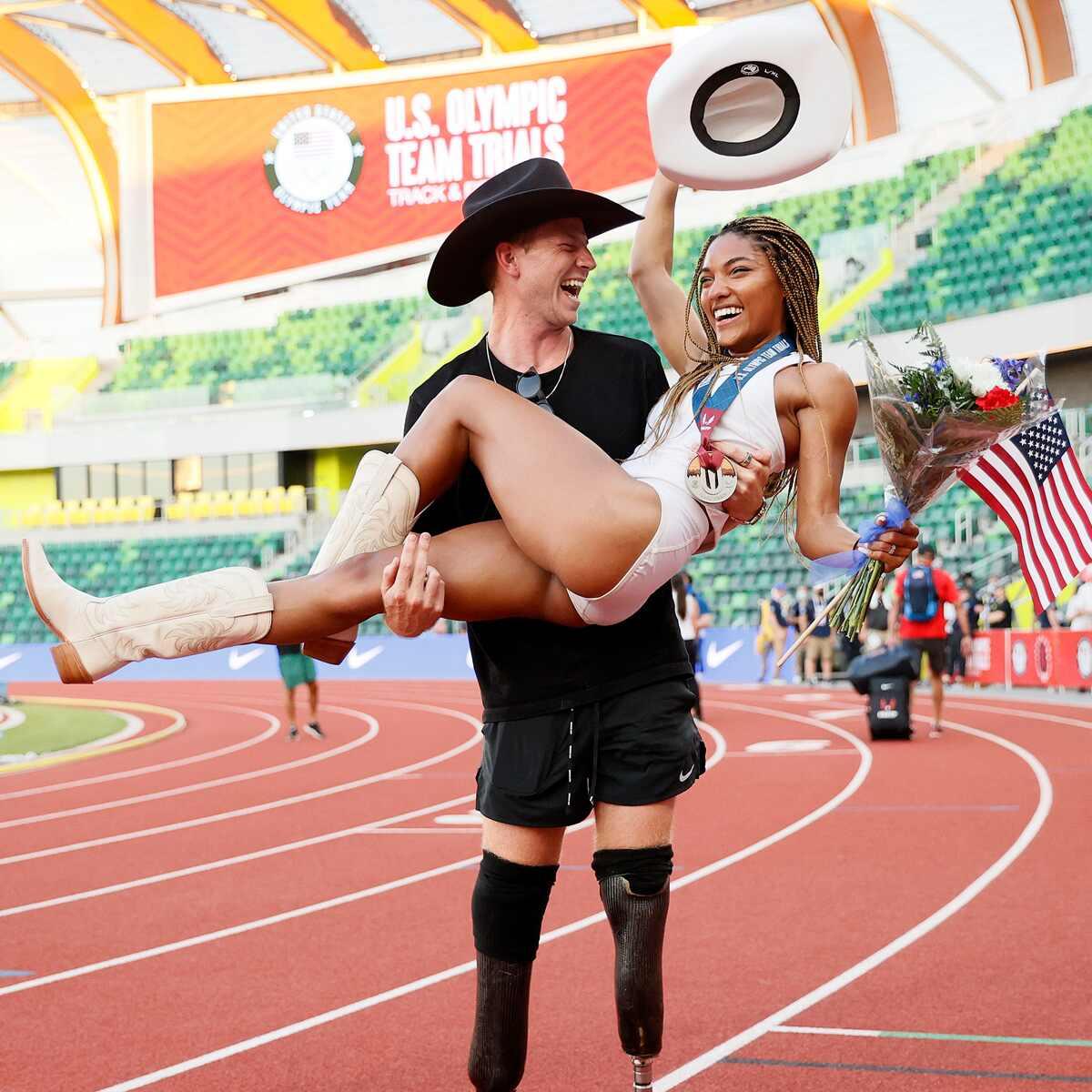 Tara Davis, Hunter Woodhall, 2020 Tokyo Olympics