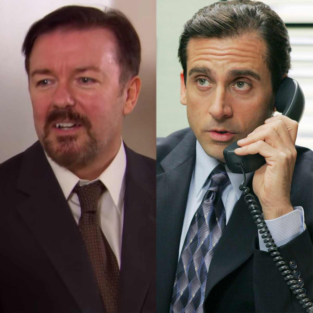 Ricky Gervais, Steve Carell, The Office, American Shows Vs. British Originals