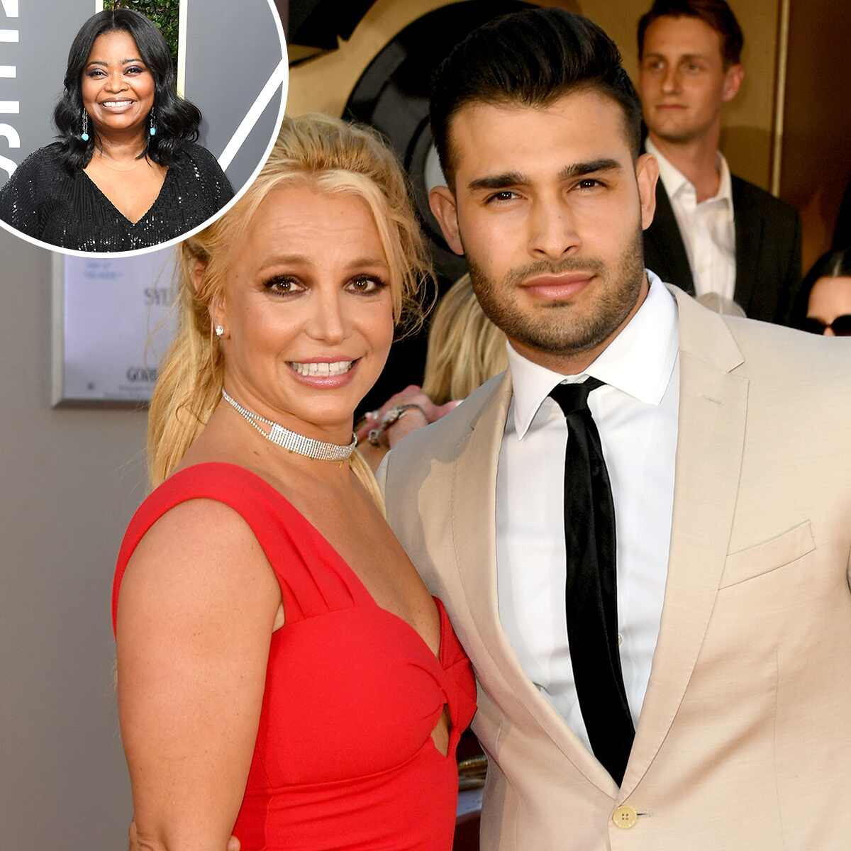 Britney Spears, Sam Asghari, Octavia Spencer
