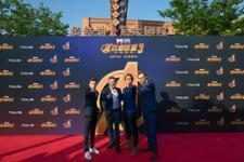 Tom Holland, Mark Ruffalo, Robert Downey Jr. & Tom Hiddleston (Shanghai)