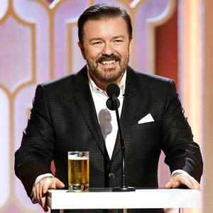 "Ricky Gervais Set to Host the 2020 Golden Globes for the ""Very Last Time"""