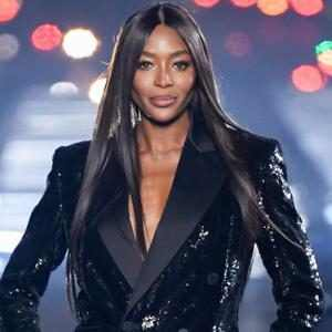 Naomi Campbell on the catwalk