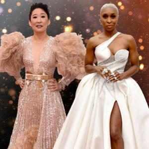 The Most OMG Oscars Fashion of All Time, Sandra Oh, Cynthia Erivo